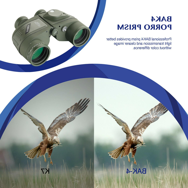 7x50 Waterproof Marine Binoculars w/