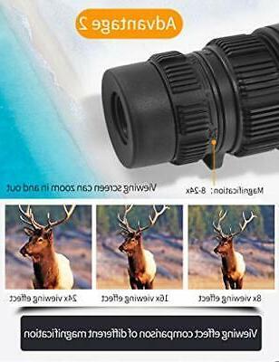 Eyeskey 8-24x42 Monocular Compact Lightweight
