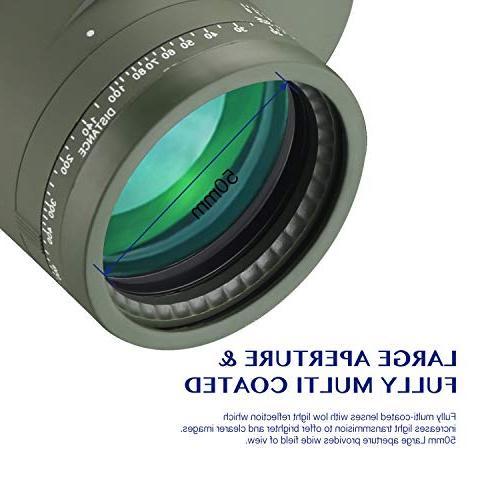 AomekieMarine Military 10x50 Waterproof Rangefinder Compass BAK4 Prism FMC Lens for Hunting