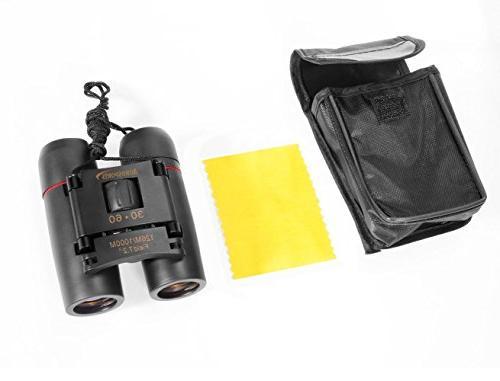 Aurosports 30x60 Folding Binoculars Telescope Low birding, etc