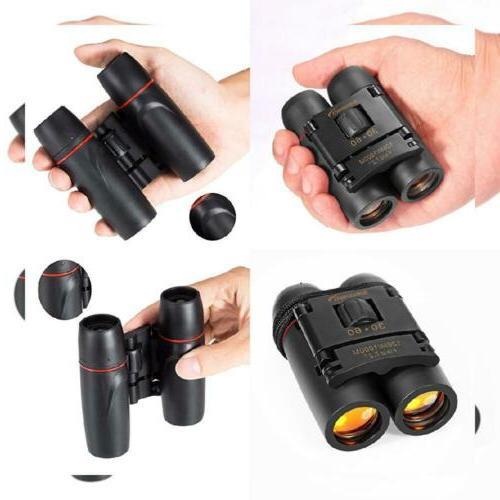 Aurosports 30x60 Folding Binoculars Telescope with Low Light