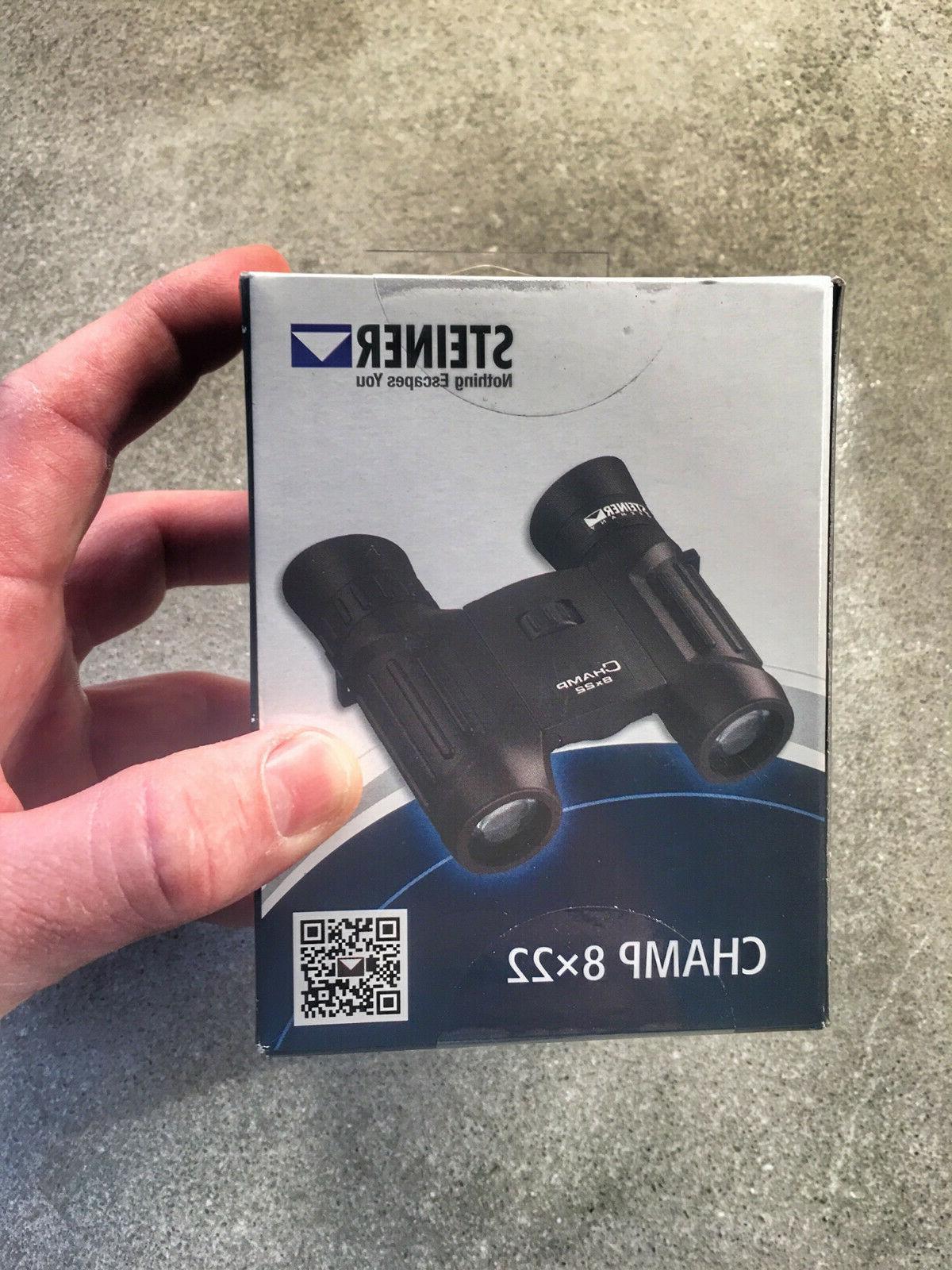 Steiner 2112 8x 22mm Champ Binocular, Black