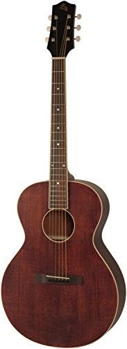 The Loar Brownstone Small Body Flat Top 6-String Acoustic Gu