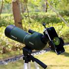 US 20-60x60mm Angled Zoom Spotting Scope Waterproof+Tripod+C