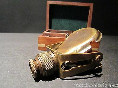 Antique Solid Traveling Binoculars Monocular Wood Set