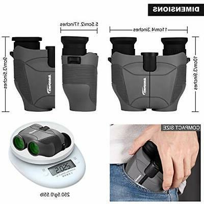 Aurosports Binoculars with Foldable Eyepiece,High