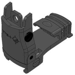 Mission First Tactical Back Up Polymer Flip Up Rear Sight -