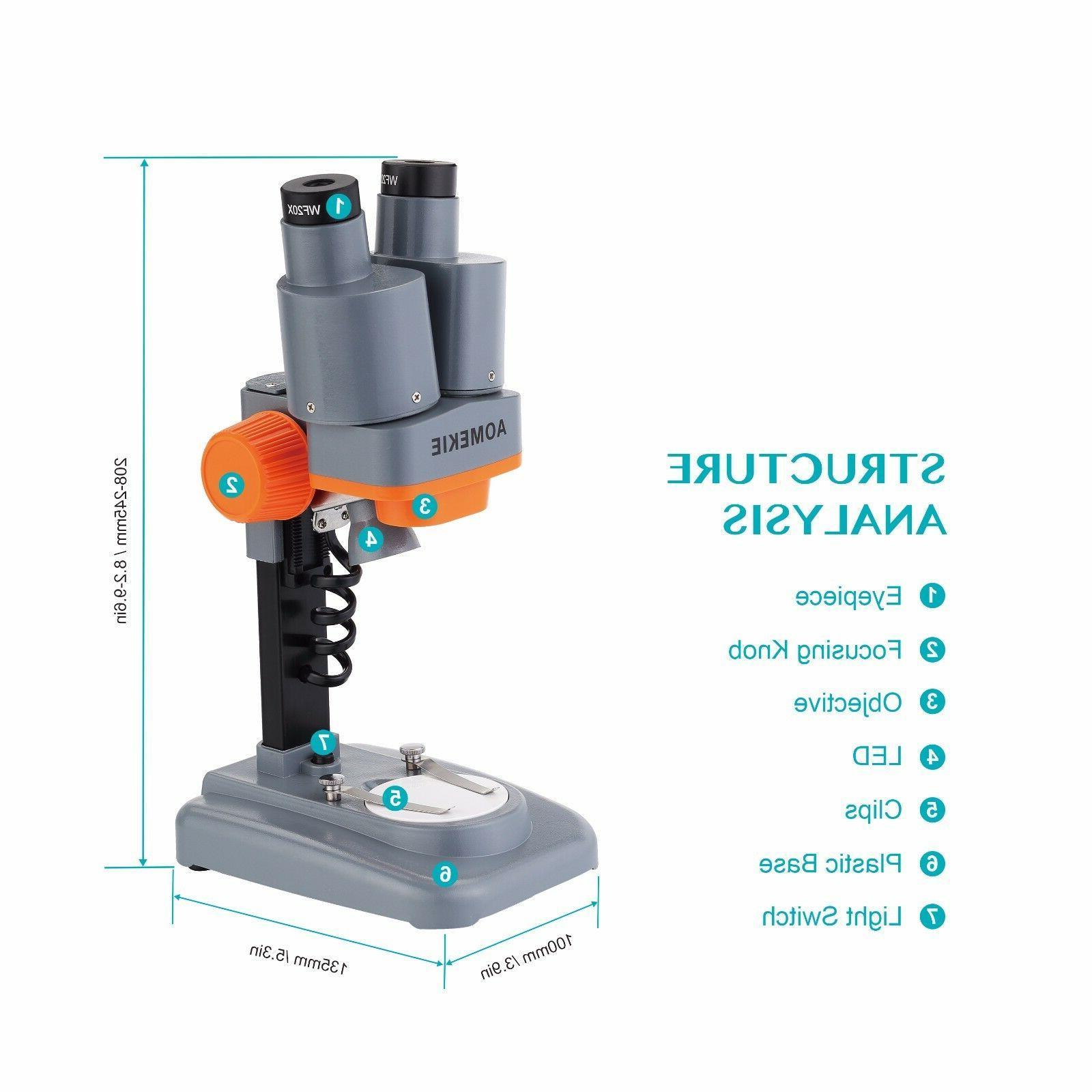 Binocular Portable Microscope LED for Solder Mobile Repair Tool