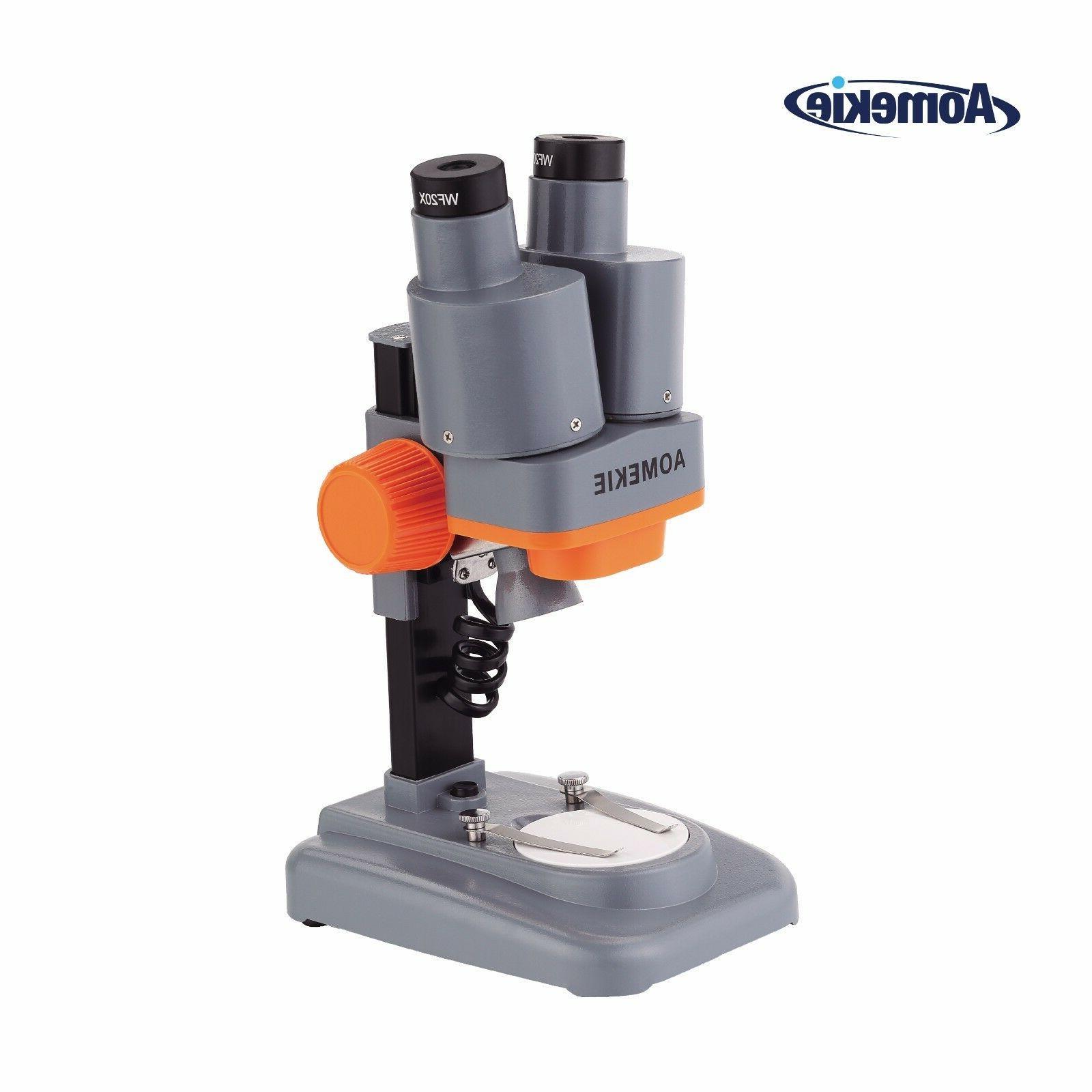 binocular 40x portable stereo microscope led