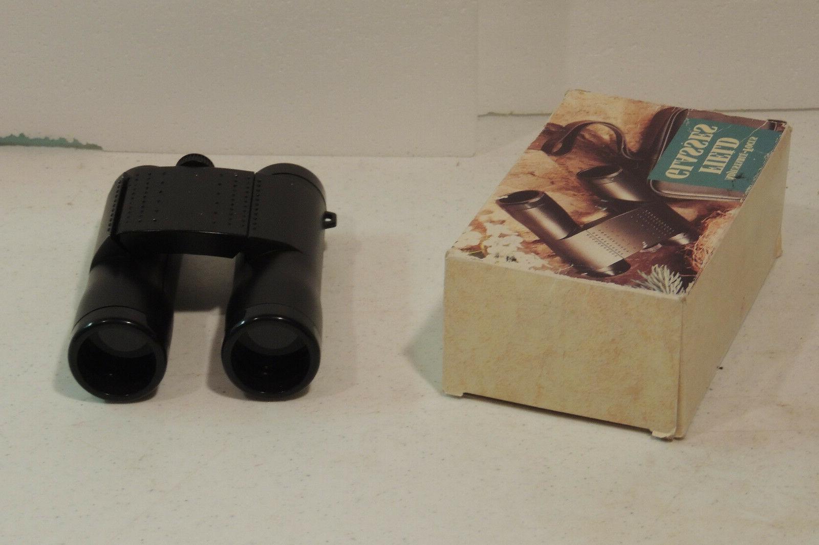 binocular adjustable focus field glass in black