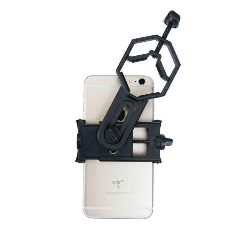 Binocular & Tripod Adapter Smartphone Clamp Holder Base Trip