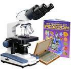 AmScope 2500X LED Binocular Compound Microscope w 3D-Stage,