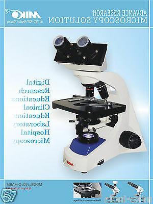 Binocular microscope Biological with back-up