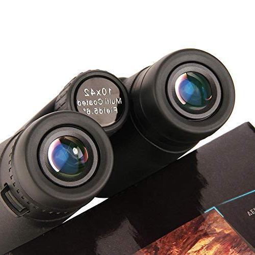 10x42 Binocular Telescope Fog-Proof Scope Viewing