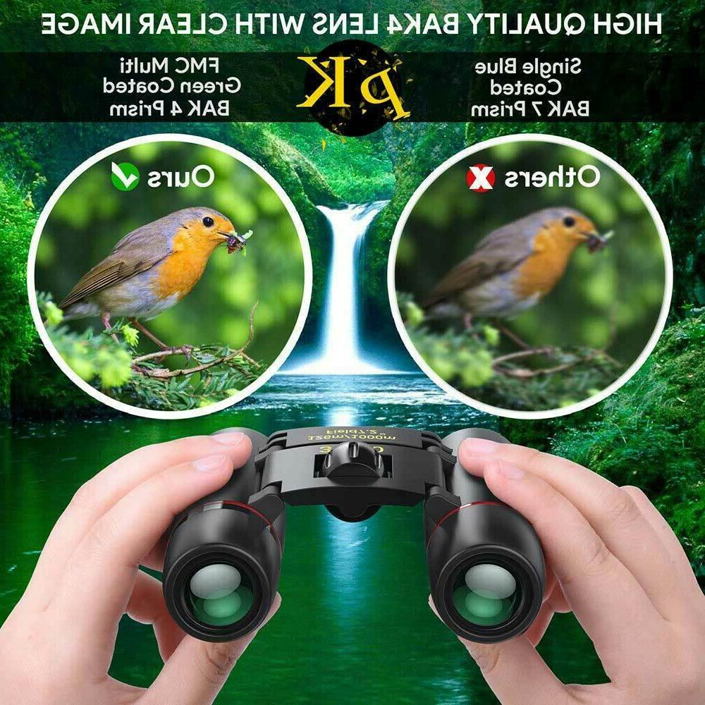 Binoculars 30x60 Travel Compact Folding Hunting Day/Night