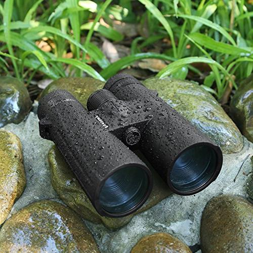 12x50 Binoculars for BAK-4 Lens for Hiking with Carrying Strap Clean
