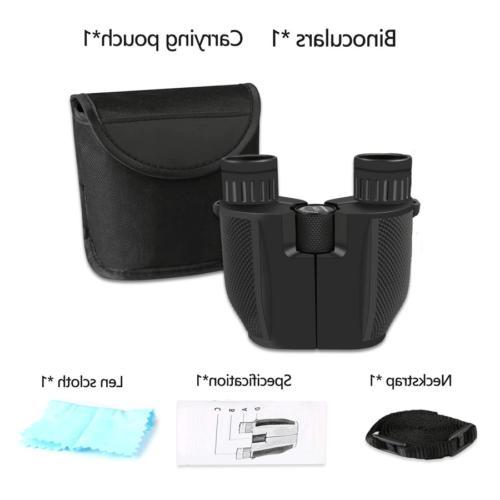 Binoculars for Adults/Kids Folding Roof Prism Weak Night
