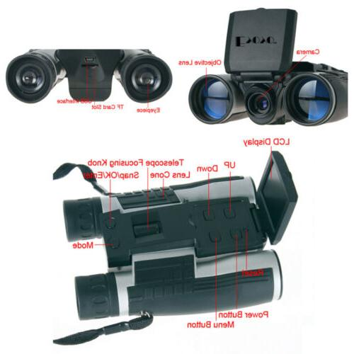 Digital Binoculars Camera Video Photo W/ Support Memory