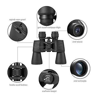 ❤ Binoculars 10X50 High W/ Light Vision