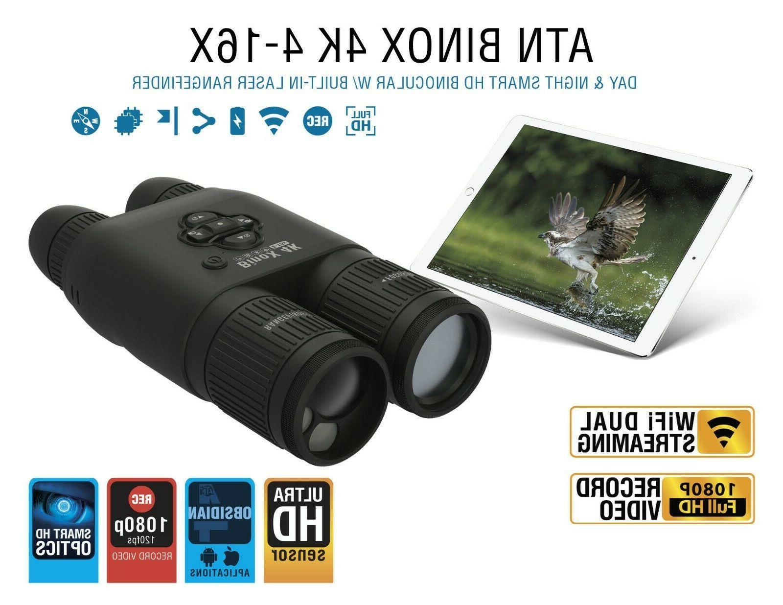 ATN Smart Day/Night Binoculars Laser finder, Full HD