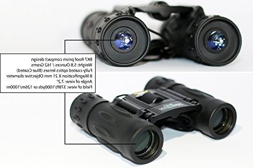 YST PRODUCTS Binoculars 8x21 Real Kids/Adult Binoculars for Compact Binoculars, Lightweight Binoculars Boys and