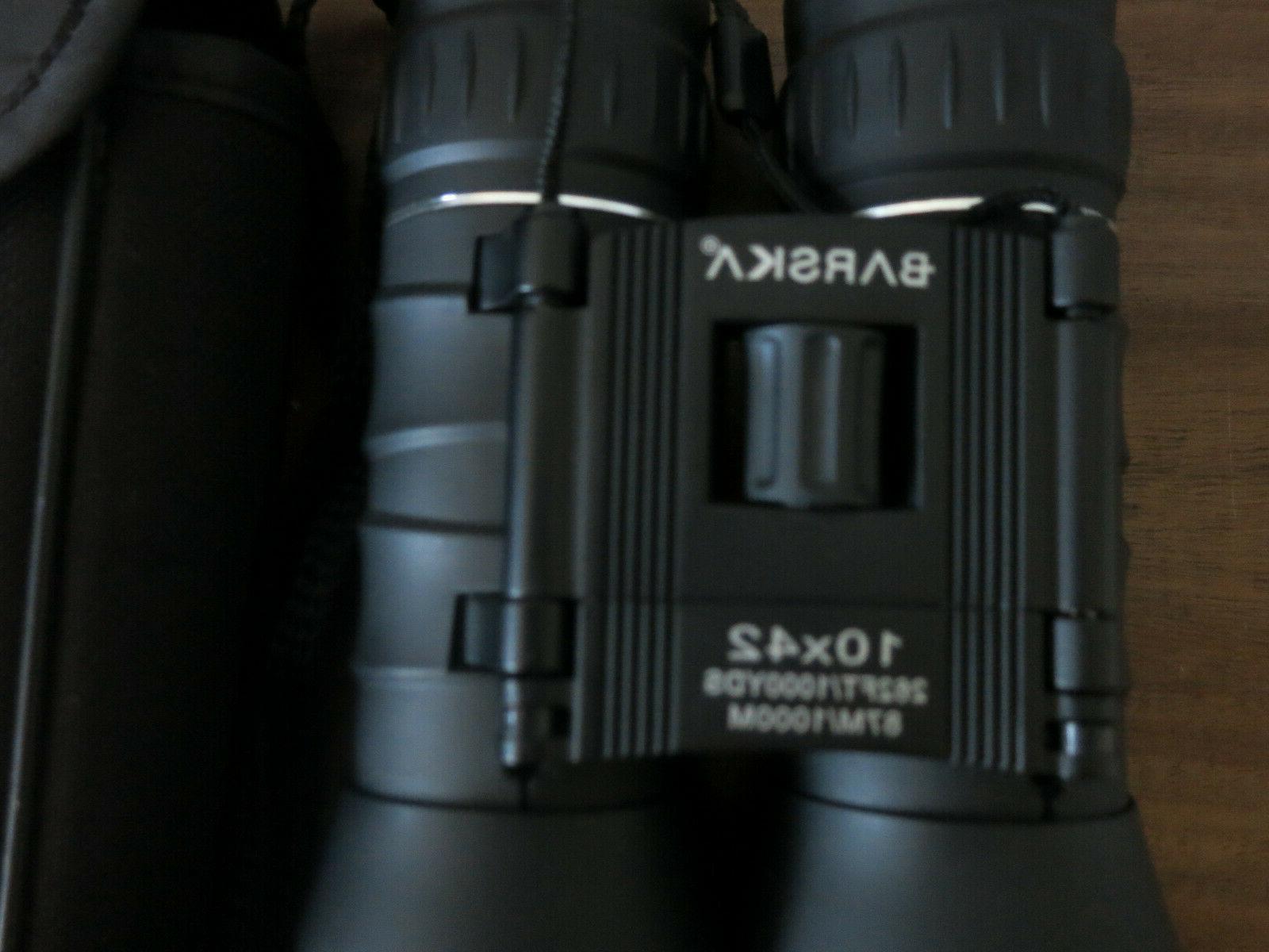 Barska Black Lens Black 10x42 Lucid View BOX