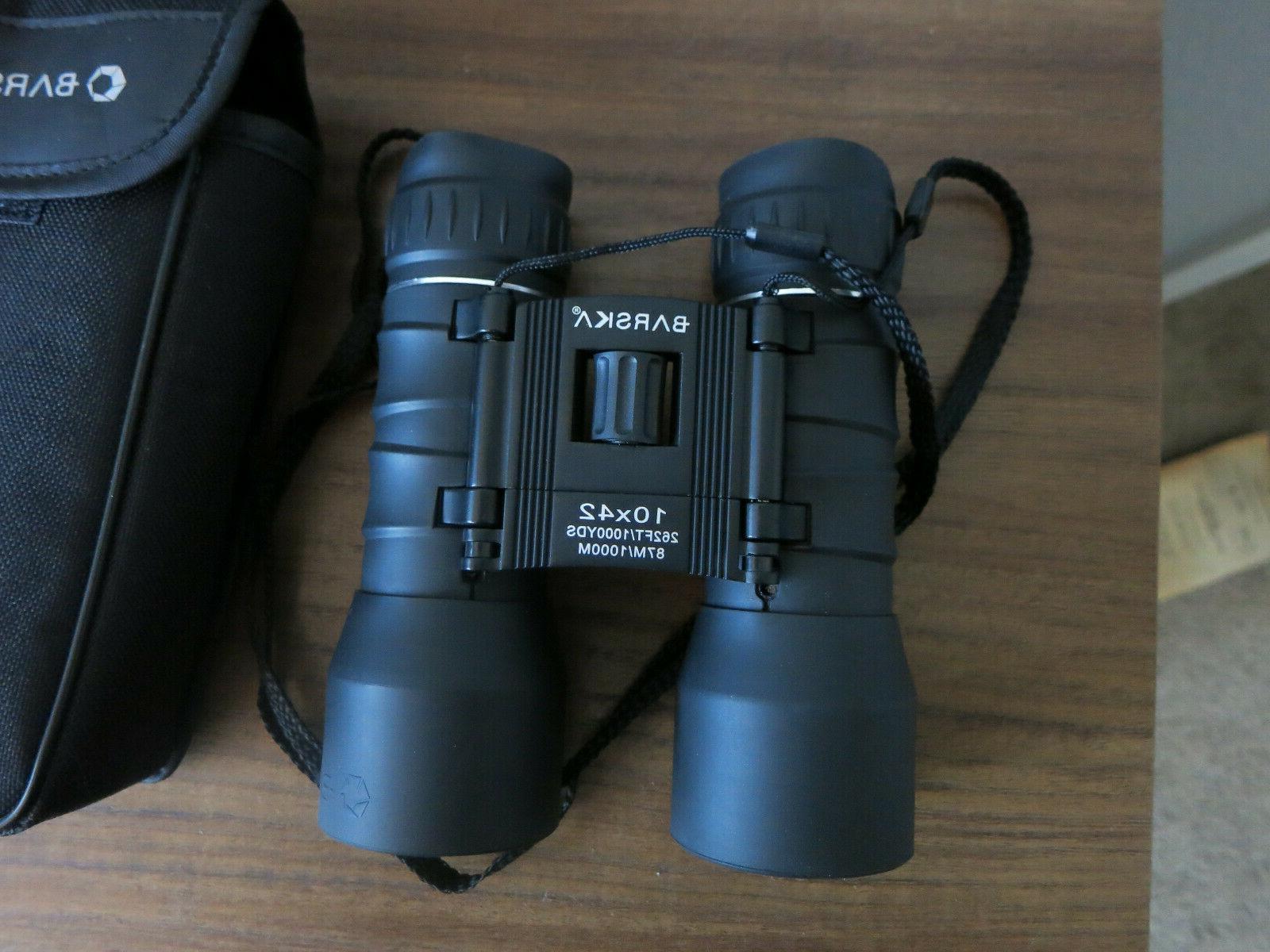 Barska Compact Blue Lens Black 10x42 View