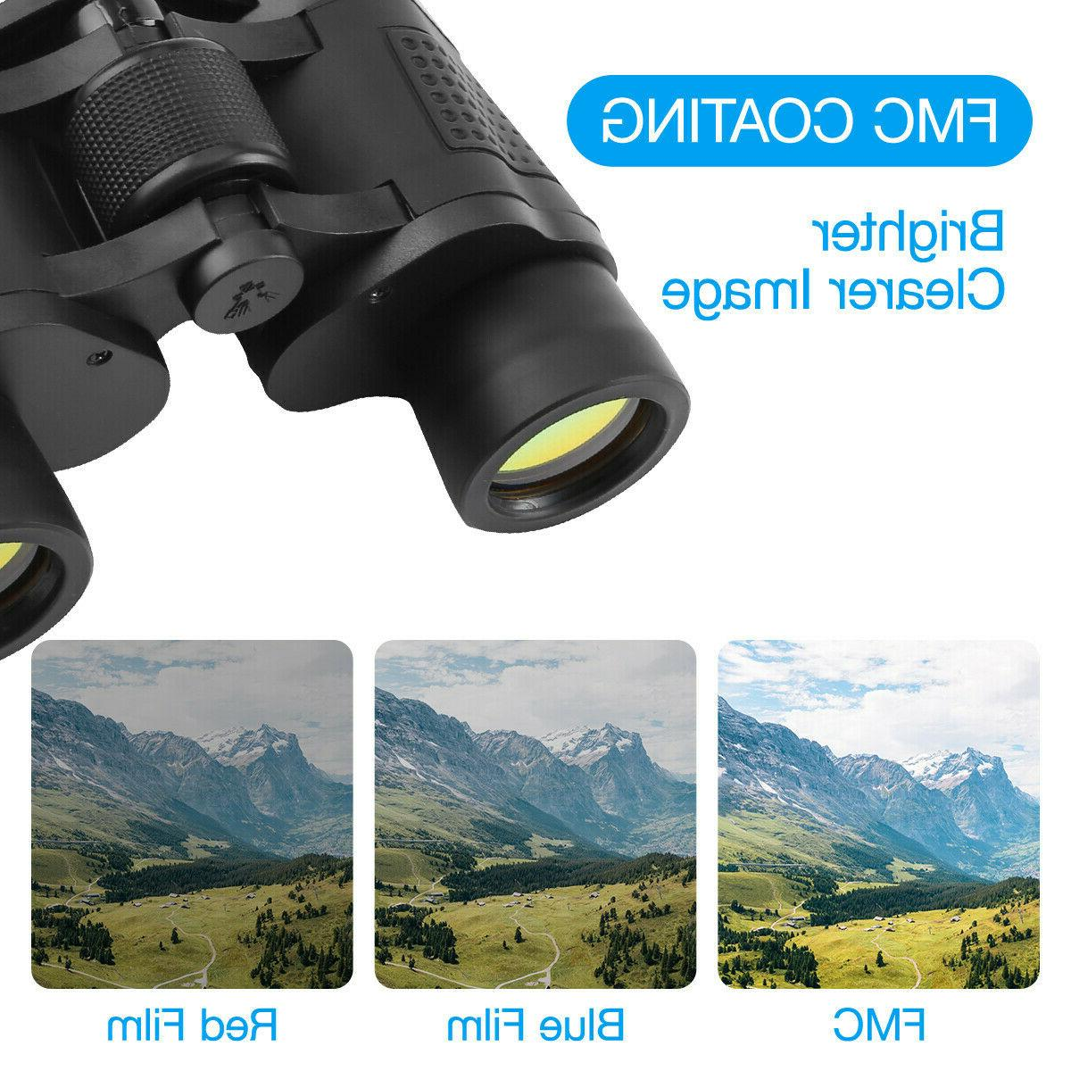 60X60 Day/Night HD Binoculars Outdoor Travel