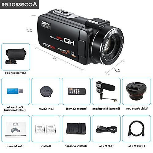 ORDRO 1080P Full HD Camera with Wifi and Wide Lens
