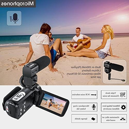 ORDRO Full HD Video Camera with Wifi and Wide Angle