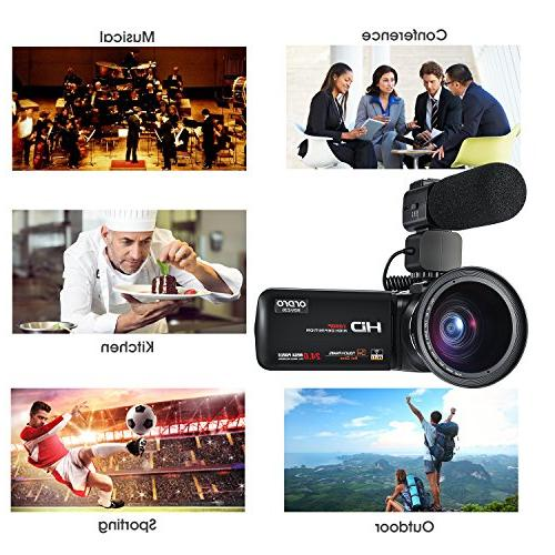 ORDRO Camcorder 30FPS Full Video Camera with Wifi and Angle