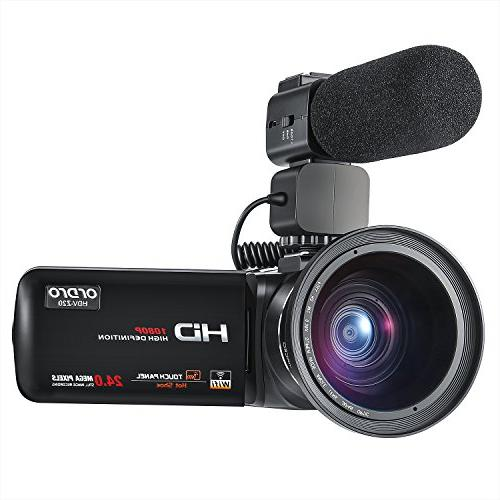ORDRO Camcorder Full Video with and
