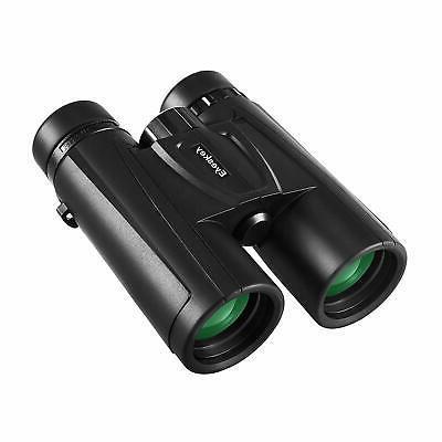 clairvoyant 10x42 binoculars for adults bak4 prism