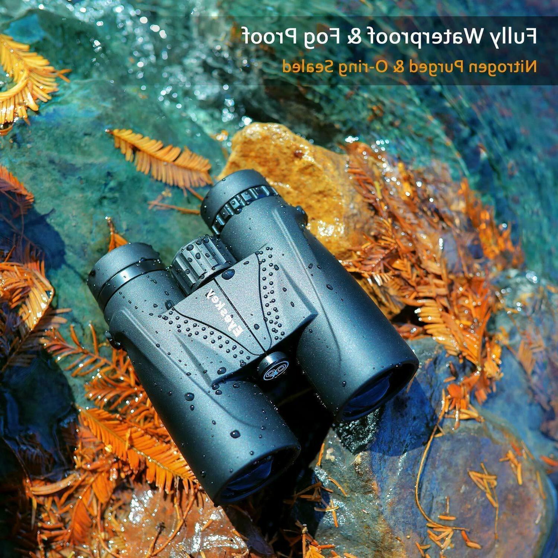 Eyeskey HD 10x42 Binoculars for Adults Waterproof Fog BAK4