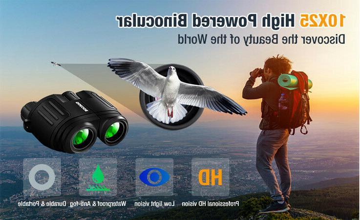 Compact Binoculars Low Light Large Eyepiece High