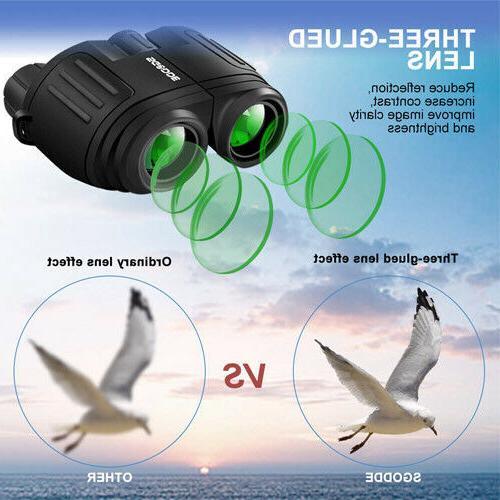 Compact Binoculars Low Light Night Vision Large Eyepiece