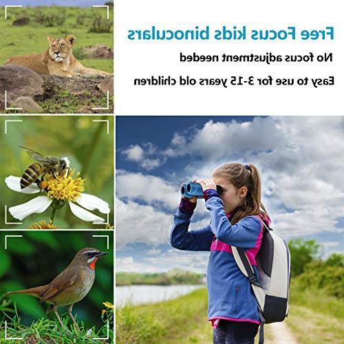 Aurosports Compact Binoculars Kids, for Boys Girls,6-14 Old Top for Kids Teen Blue