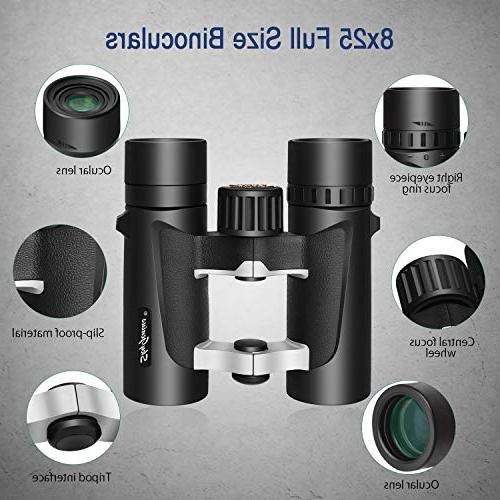 Small Compact for Binoculars 8x25 for Kids Sightseeing Hunting Wildlife Watching