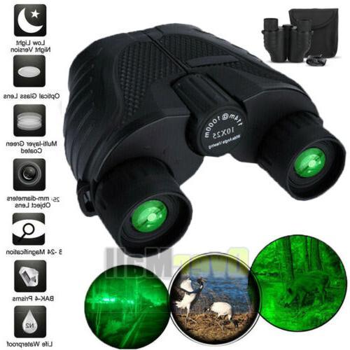 day night 10x25 military zoom powerful binoculars