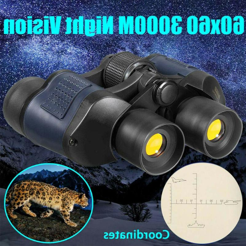 60X60 Day Vision Outdoor Travel Binoculars Telescope+Case