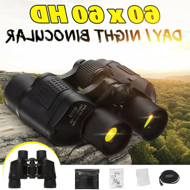 60X60 Zoom HD Binoculars Day/Night Vision Outdoor Hunting Te