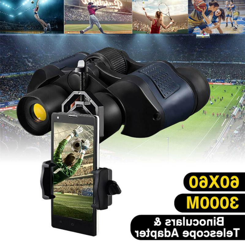 ☆60X60 Zoom HD Binoculars Day/Night Vision Outdoor Hunting