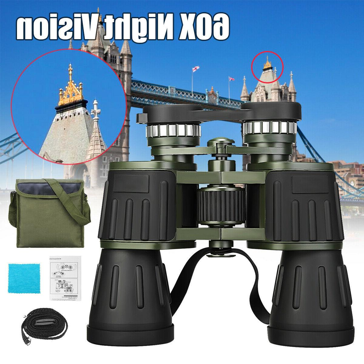 binoculars 30x60 zoom outdoor travel compact folding