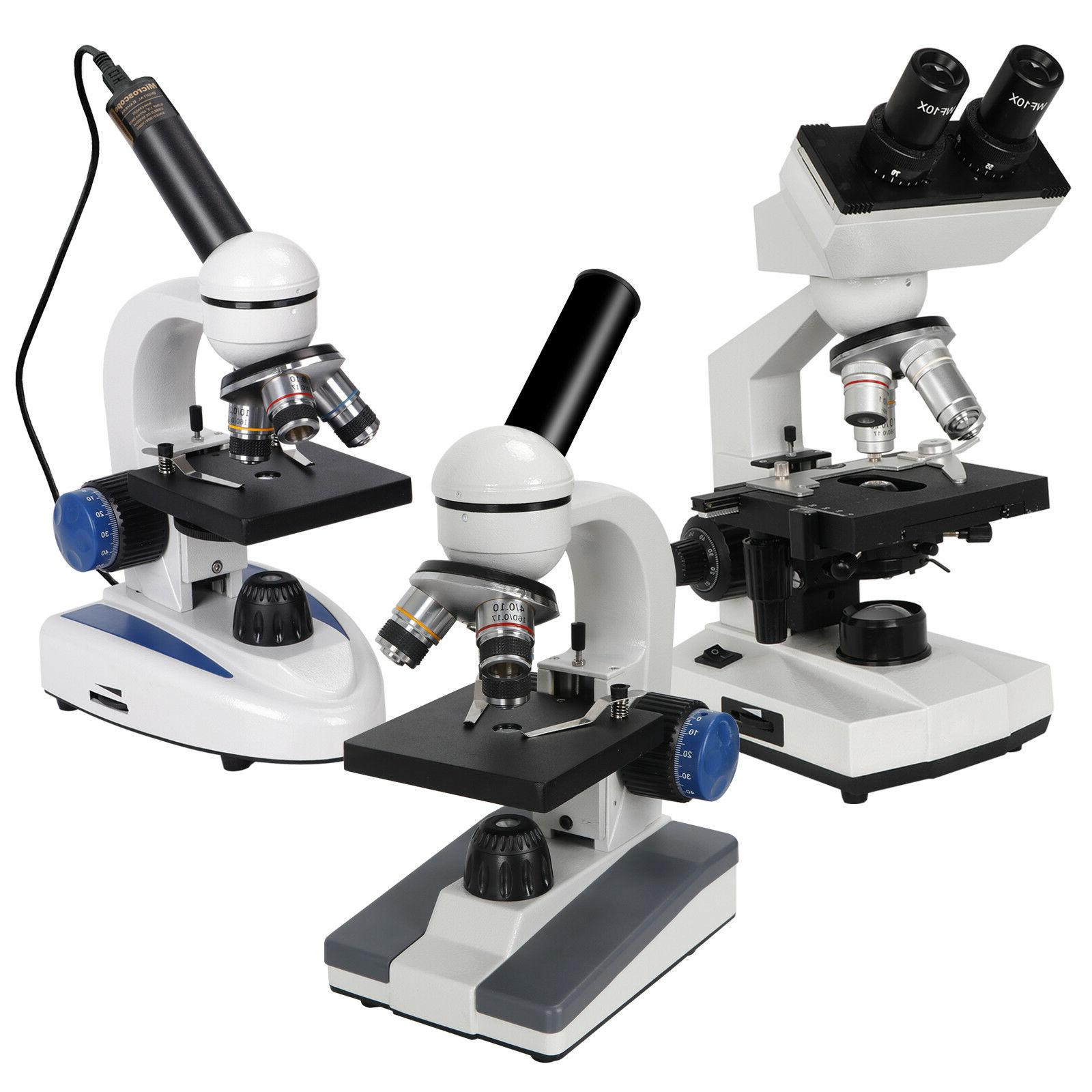 digital monocular binocular biological compound microscope 4