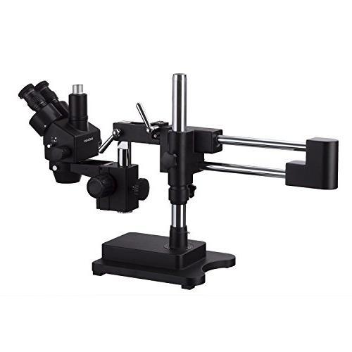 AmScope 3.5X-180X Trinocular Zoom Microscope Double Arm
