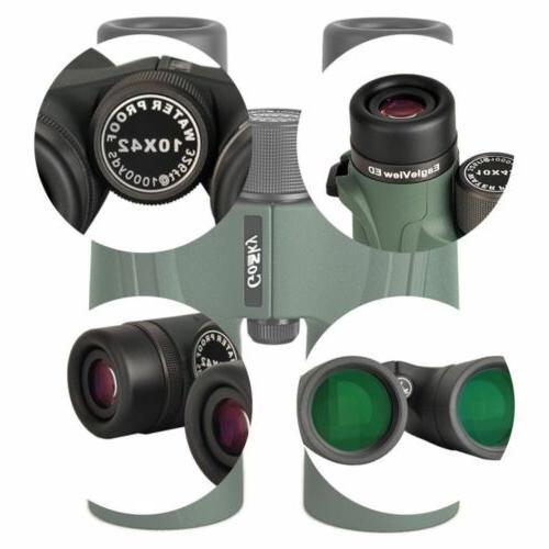 Gosky 8x42 Binoculars Waterproof ED Glass Phone Adapter