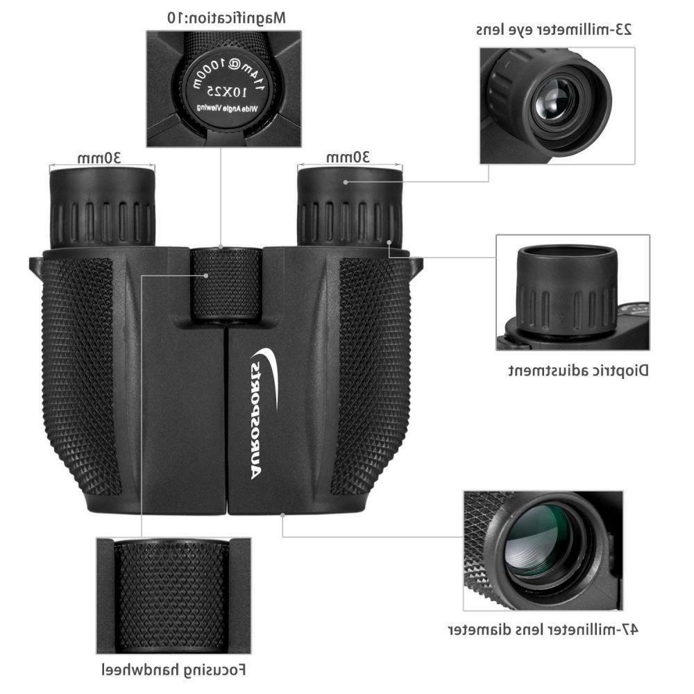 Aurosports Binoculars Outdoor Games Concerts 10x25