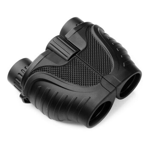 Folding Mini 10x25 Binoculars High Hunting Camping Zoom+Bag