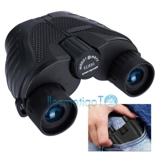folding mini 10x25 night day binoculars high