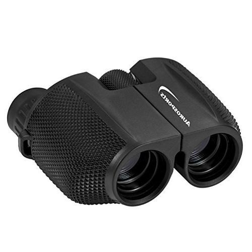 Aurosports 10x25 Powered Binoculars Light Night Bird Great Outdoor Games Concerts